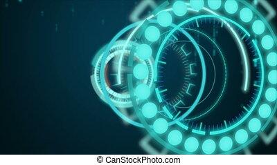 głowa, hud, tło, dwójkowy, wystawa, ciemny, technologia, cyber, kropla, 4k, ruchomy, przypadkowy, futurystyczny, do góry, pojęcie