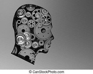 głowa, z, mechanizmy