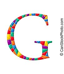 g, 手紙, モザイク, ベクトル