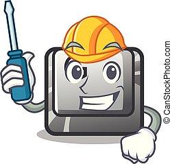 g, 自動車, ボタン, installed, コンピュータ, マスコット