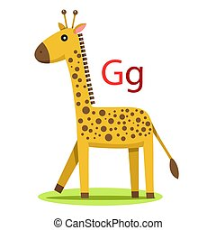 G alphabet vector animal