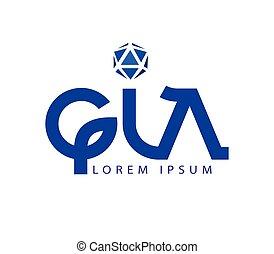 G and LA Logo Design
