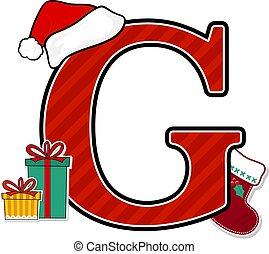 g betű, nagybetű, karácsony