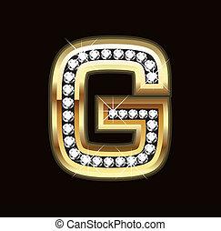 G bling letter
