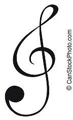 g-clef, sinal