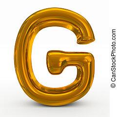 g, doré, lettre
