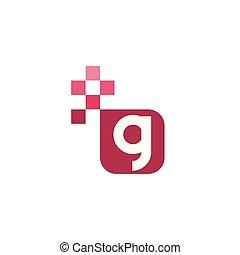 G Font Vector Template Design