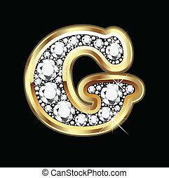 G gold an diamond bling