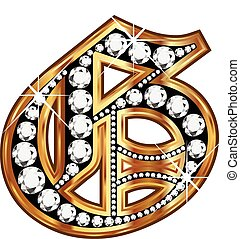 G gold and diamond bling