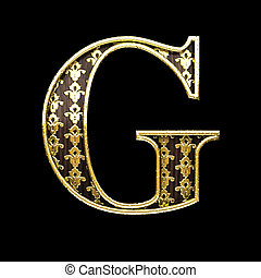 g golden letter 3d illustration