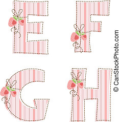 g, h, lapwerk, e, f, alphabet.
