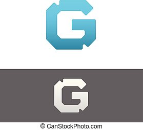 G Letter Alphabet Abstract vector text logo