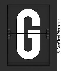 G Letter from mechanical timetable board - Letter from a...