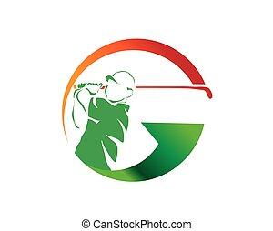 G Letter Golf Fast Arrow Symbol