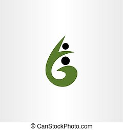 g letter healthy people logo vector