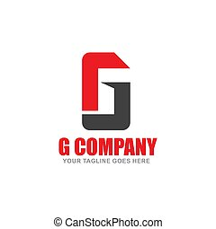 Initial Letter G Logo Template Colored Grey Circle Design