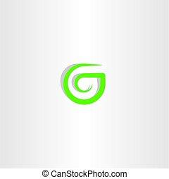 g letter logo green icon vector symbol design
