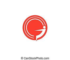 G letter people logo design template