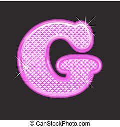 G letter pink bling girly