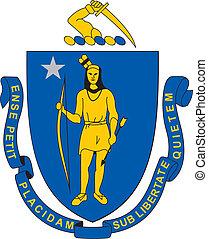 G massachusetts - Various vector flags, state symbols, ...