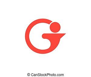 G people logo template