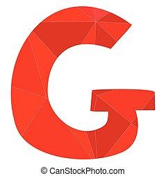 G red alphabet vector letter