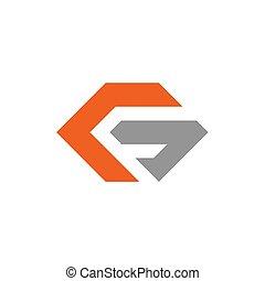 g, vektor, konstruktion, brev, logo, ikon