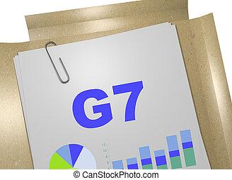 g7, -, economisch, concept