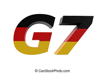 G7 Nations in Germany concept isolated on white background