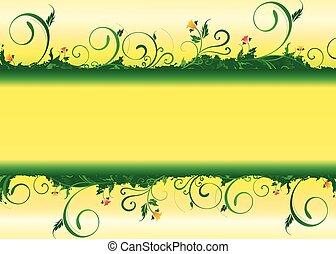 gałąź, zielony
