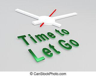 gaan, concept, laten, tijd