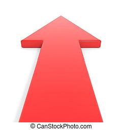 gaan, forward., rode pijl