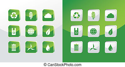 gaan, glas, groene, iconen