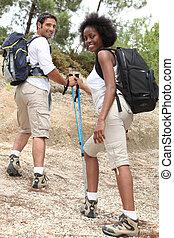 gaan, hiking., lets