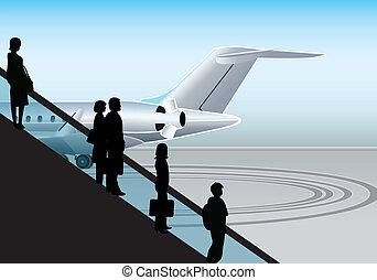 gaan, om te vliegen