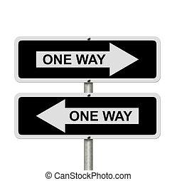 gaan, richting, verward