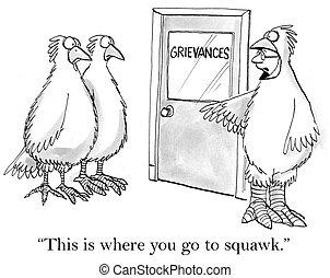 gaan, squawk, waar, u, here's