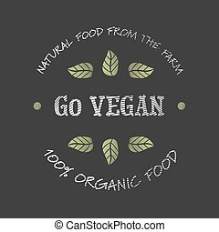 gaan, vegan, pictogram