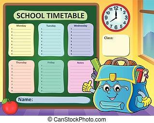 gabarit, école, 9, horaire, hebdomadaire