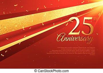 gabarit, 25e, carte, célébration, anniversaire