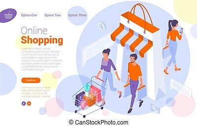 gabarit, achats en ligne