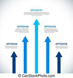 gabarit, arrows., infographics