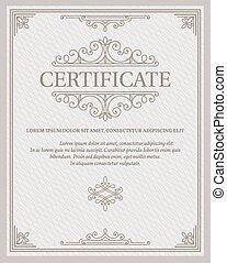 gabarit, certificat, et, diplômes