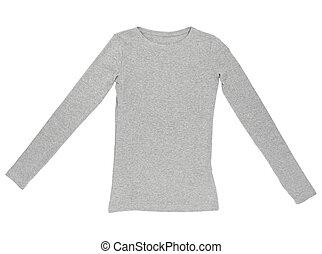 gabarit, chemise t, habillement, usure, robe