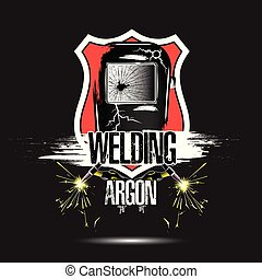 gabarit, conception, logo, soudure, argon