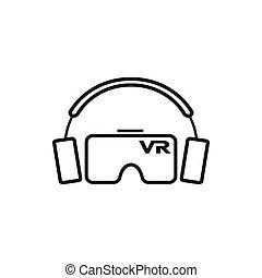 gabarit, conception, virtuel, graphique, icône, réalité, vr
