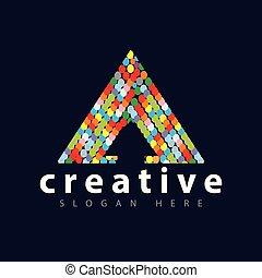 gabarit, couleur, palette, vecteur, flèche, logo, icône