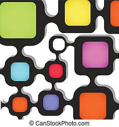 gabarit, couleur, texte, résumé, boxes., fond