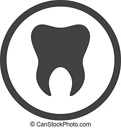 gabarit, dentaire, dent, tooth., logo, icon., signe, symbole