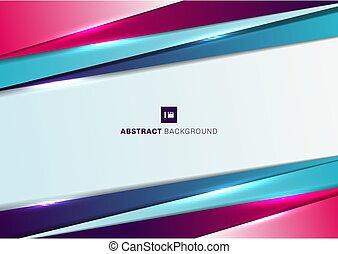 gabarit, diagonal, bleu, couleur, effect., fond, chevauchement, triangle, résumé, géométrique, éclairage, rose, gradient
